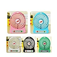 Dynamo Mini Portable Usb Rechargeable 3 Speed Fan Colors May Vary