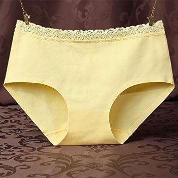 GFEI Una pieza de ropa interior ropa interior de algodon de encaje en la cintura de