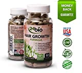 24bio Natural Hair Growth Formula Complex for Stronger, Longer and Healthier Hair |Research Verified Bamboo Extract Enhancer Supplement, amla, zinc and More- Hair Loss Remedy and Regrowth Pills For Sale
