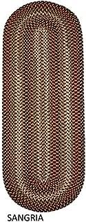 product image for Rhody Rug Jamestown Indoor/Outdoor Braided Rug Sangria 2' x 6' Runner Reversible 6' Runner Runner Runner
