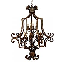 Jeremiah 8139AG12 Riata 12 Light Foyer Chandelier Textured with Antique Scavo (Optional - Sold Separately) Glass, Aged Bronze