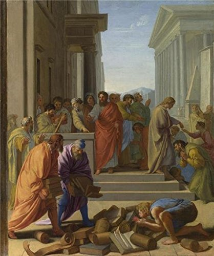 Oil Painting 'Eustache Le Sueur - Saint Paul Preaching At Ep