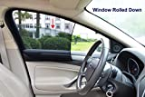 Bayan Car Front Side Window Sunshades Driver Side Window Sun Shade-Intended for Most Sedans-Reduce 43ºF Cut 94% UVA and 99% UVB-2 Pack