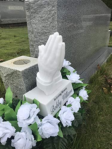 Solar Lighted Praying Hands by Eternal Light | Cemetery Graveside Decoration Heartfelt Gift