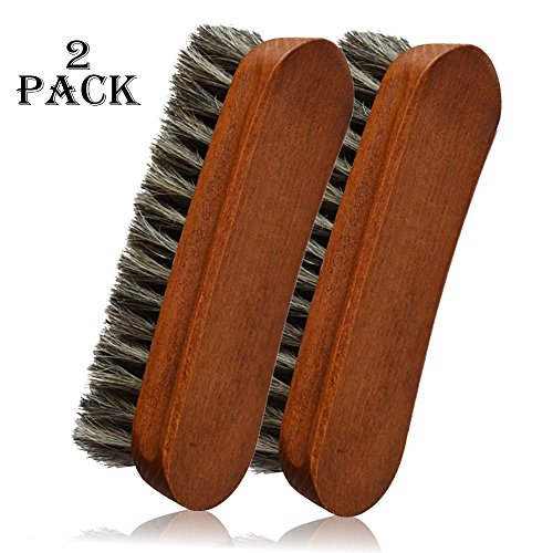 German Horse Hair Brush for Polishing and Cleaning Designer Leather Shoes, Handbags, Leather Coats Pants Leather Sofa Furniture and Clothes. (Designer Handbags Shoes)