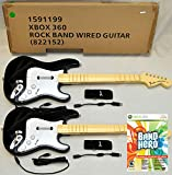 2 x NEW Wired Fender Stratocaster Guitar Controller & NEW BAND HERO XBox 360 Guitar Hero Video Game