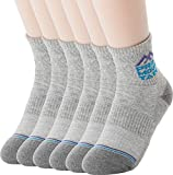 Pro Mountain Cotton Quarter Ankle Cushion All Day Hiking Athletic Sports Socks (S(US Women Shoes 6~8), Gray 6pairs Pack S-size)