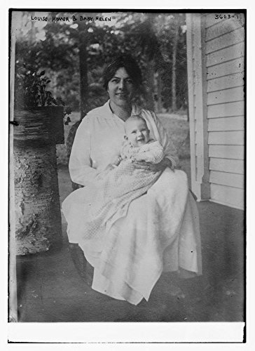 1910 Photo Louise Homer and Baby Helen opera singer Louise Beatty Homer (1871-1947) with her daughter Helen Joy Homer (1915-1946) who later was a medical relief worker in China. (Source: Flickr Common by Historic Photos