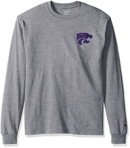 ldcats Men's Champ Long Sleeve Tee 1, Large, Oxford Heather ()
