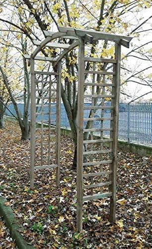 Il Ceppo La cepa pérgola de Madera para Exteriores A Dos Arcos jardín decoración Exterior Cobertura terraza pergolato| Made in Italy by impregnada en Autoclave| 210 X 70 X 230h CM: Amazon.es: