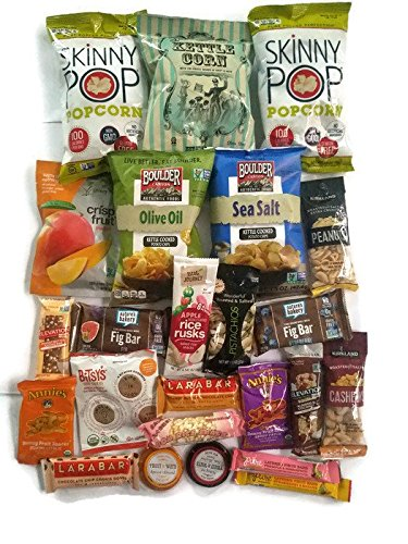 Vegan Snack Food Box- Healthy grocery gift for Vegans and Vegetarians: Plant-based Variety Pack, Gift Basket, Care Package, School, Office, College, Military by Three Moons