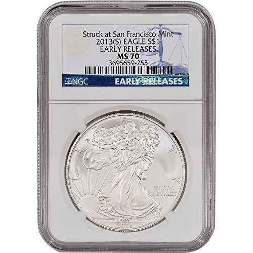 2013 (S) American Silver Eagle Early Releases $1 MS70 NGC