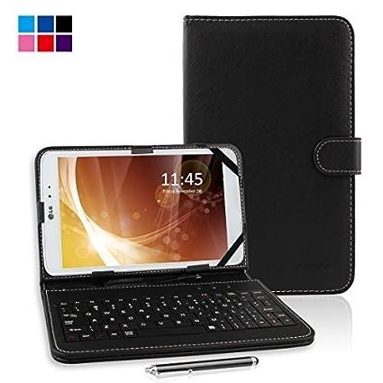 Kamor - Funda para Tablet de 10 pulgadas en piel PU con teclado Micro USB,