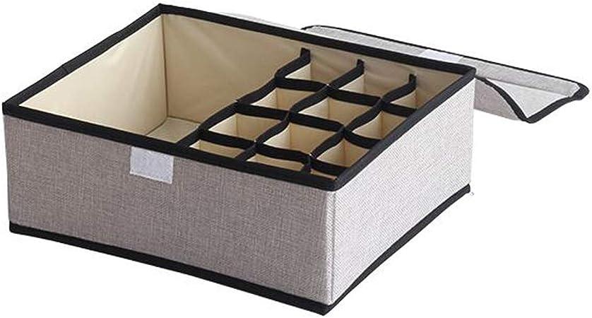Zfggd Organizador de almacenamiento de ropa interior, sujetador Organizador de cajones de ropa interior Divisores de armario plegable y cajas de almacenamiento plegables para sujetadores Calcetines de: Amazon.es: Hogar