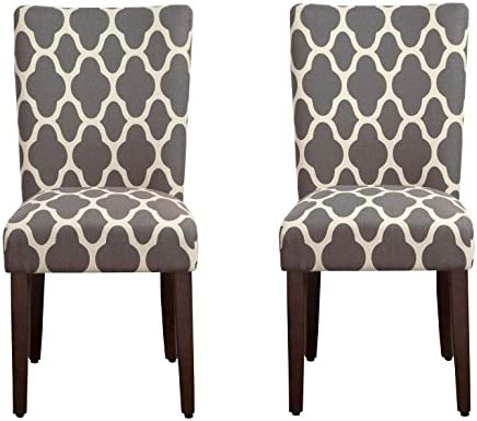 picture of HomePop Parsons Classic Upholstered Accent Dining Chair, Set of 2