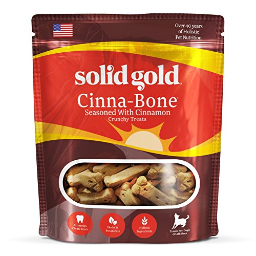 Solid Gold Cinna-Bone Biscuit, Standard Size Holistic Dog Treat, All Ages, All Sizes, 2.5 lb Bag
