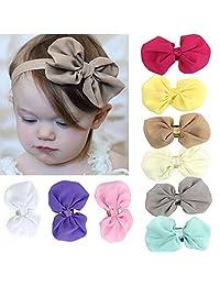 Sannysis(TM) 9PC Sweet Babys Girls Chiffon Flower Elastic Headband