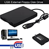 USB Floppy Disk 3.5'' 1.44 MB FDD Floppy Disk Drive External Portable USB Floppy Disk Reader Plug and Play for PC Windows 10 7 8 Windows XP Vista Mac Black