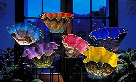 Amazon.com: modern art glass bowl Blown Chandelier Chandeliers Buy ...