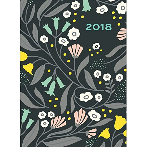 High Note 2018 Floral Pattern in Gold 18-Month Weekly Planner: Contemporary, Durable, Soft-Cover, Foil Embellished Planner Featuring Unique, Original, Designer Art by Elizabeth Olwen (CHZ0301)