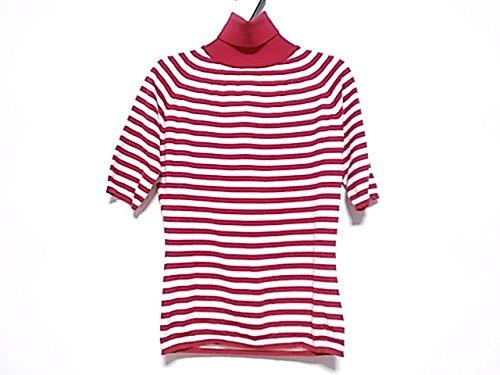 (セリーヌ) CELINE セーター 半袖セーター レディース 白×レッド 【中古】 B07DWWS7TB  -