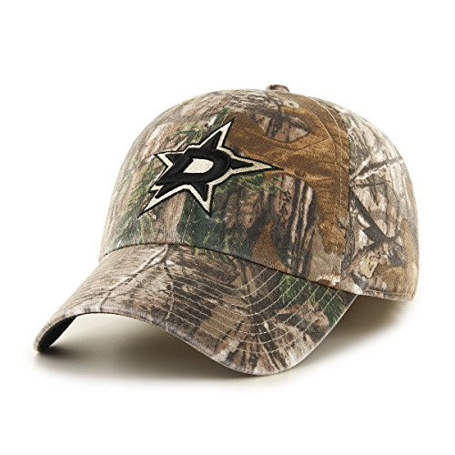 NHL Dallas Stars Realtree Franchise Fitted Hat, Small, Realtree - Vintage Cap Hockey