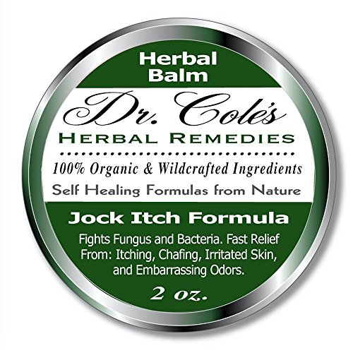 Dr. Cole's Organic Jock Itch Treatment – Anti-fungal Ointment, Kills Fungus & Ringworm – Relieves Itching & Eliminates Fowl Groin Oder Naturally – Easy to Apply – Safe for the Whole Family -