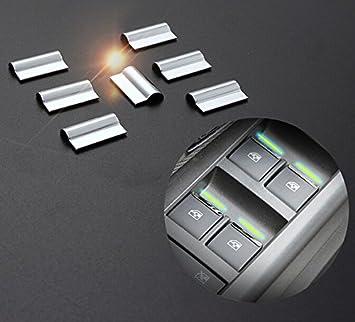 Acero inoxidable ventanas Levantador botón recorta: Amazon.es: Coche y moto