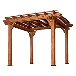 Garden and Outdoor Backyard Discovery Cedar Pergola 10 'x 10' pergolas