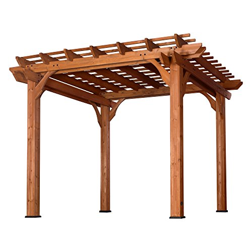 Backyard Discovery Cedar Pergola 10 'x 10' (Wood Kits Arbor)