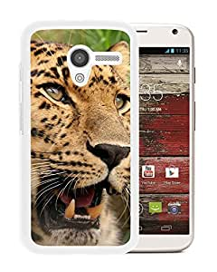 New Custom Designed Cover Case For Motorola Moto X With Leopard Animal Mobile Wallpaper (2) Phone Case