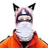 Beardo Balaclava Ski Mask, Angry Cat