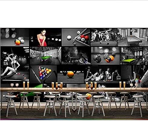 Mkkwp Sala De Billar Europea Sala De Tenis De Mesa 3D Wallpaper Mural Impresión De Fotos Papel De Pared Decoración De Pared Pintura Murales Tamaño Personalizado-250Cmx175Cm: Amazon.es: Bricolaje y herramientas