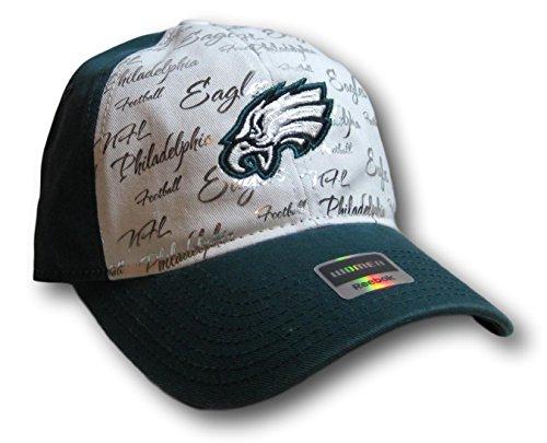 Fan Apparel Philadelphia Eagles Women's Foil Adjustable Hat Lid Cap