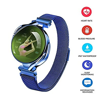 KXHWSH Fashion Women Fitness Tracker Smart Wristband with Heart Rate Monitor Waterproof Pedometer Estimated Price £59.99 -