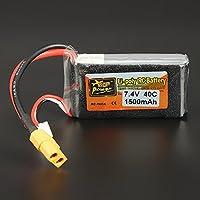 New ZOP Power 7.4V 1500mAh 40C 2S Lipo Battery XT60 Plug By KTOY