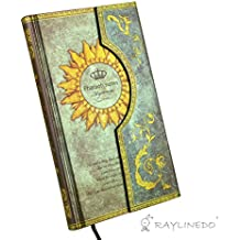 RayLineDo Vintage Bronze Magic Book Diary Notebook Journal Notepad Hard Cover With Magnetic Clasp