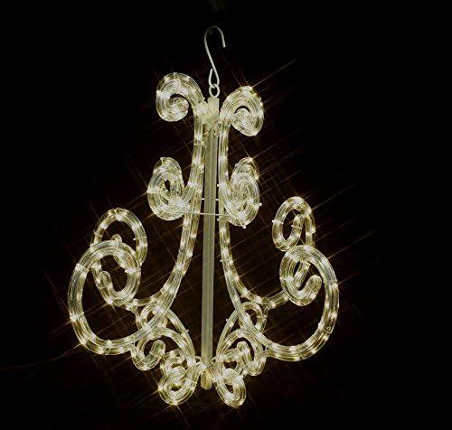 LED h/ängelaterne LED Kronleuchter LED lichtschlauch 12 meter Warmwei/ß 36 Led pro meter 230 V Innen//au/ßenbereich