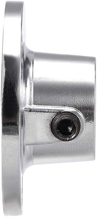 soporte de soporte para tuber/ía 16 mm de di/ámetro Brida para barra de armario Sourcingmap 4 unidades