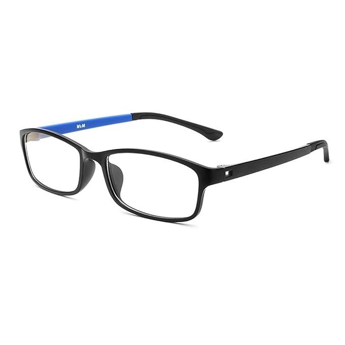 dab52ee72f2b Forepin Unisex Monturas de gafas Rectangulares para Mujeres y Hombre reg   Gafas de Vista Lente Transparente Gafas Retro Vintage Visión Clara - azul   ...