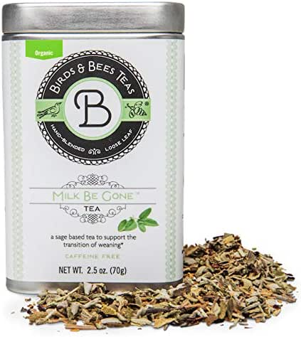 Birds & Bees Teas - Baby Weaning Sage Tea - Milk Be Gone is a Refreshing Sage Blend That Supports Transition of Weaning of Nursing Mothers to No More Milk~30 Servings, 2.5 oz
