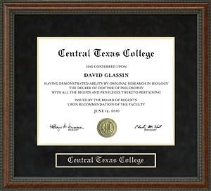 Amazon Com Central Texas College Diploma Frame Burl