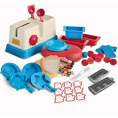 FAO Schwarz Deluxe Chocolate Candy Maker Station Toy Set, Craft Delicious Sweets W/ A Variety of Silicone Molds, Create Bonbons, Truffles, Bars, Or Animal/Star Shapes W/ Squeezer Bottle, Easy Clean -