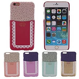 QHY Special Design TPU Patch The Curtain Pattern PC Hard Case With Card Slot for iPhone 6(Assorted Color) , Golden