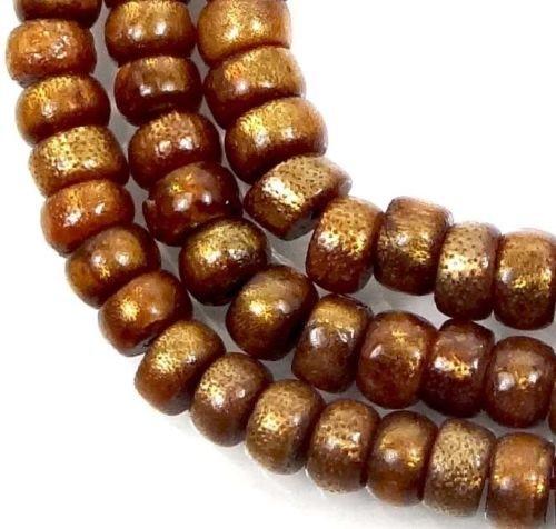 - 7x4mm Natural Golden Sponge CORAL Rondelle Beads 16''