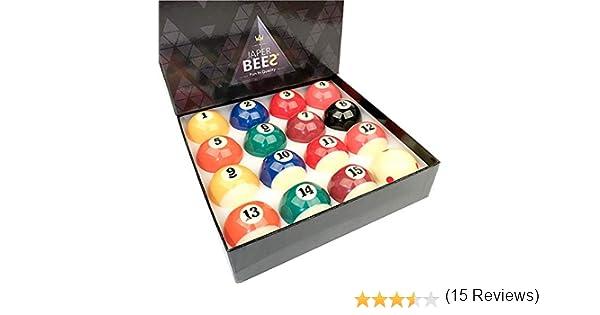 JAPER BEES TV Masters Juego de Bolas de Billar/Bolas de Billar Completo 16 Bolas de regulación de tamaño y Peso Bola de Resina: Amazon.es: Deportes y aire libre