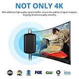 Updated 2018 Version TV Antenna, Indoor Digital HDTV Antenna Amplified 75 Mile Range 4K HD VHF UHF Freeview for Life Local Channels Broadcast for All Types of Home Smart Television - Never Pay Fees