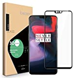 OnePlus 6 Screen Protector, ICHECKEY [Full Adhesive] [3D Curved Edge ] Full Coverage Tempered Glass Screen Cover Shield for OnePlus6 - Black