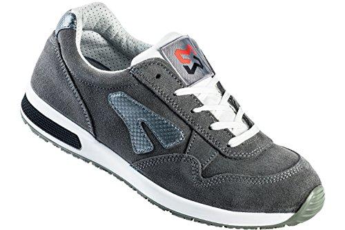 Sicherheitsschuhe S1P SRC Jogger grau - - Schuhe EN ISO 20345 S1P für Innenbereiche geeignet - Arbeitsschuhe mit Durchtrittschutz - Gr. 43