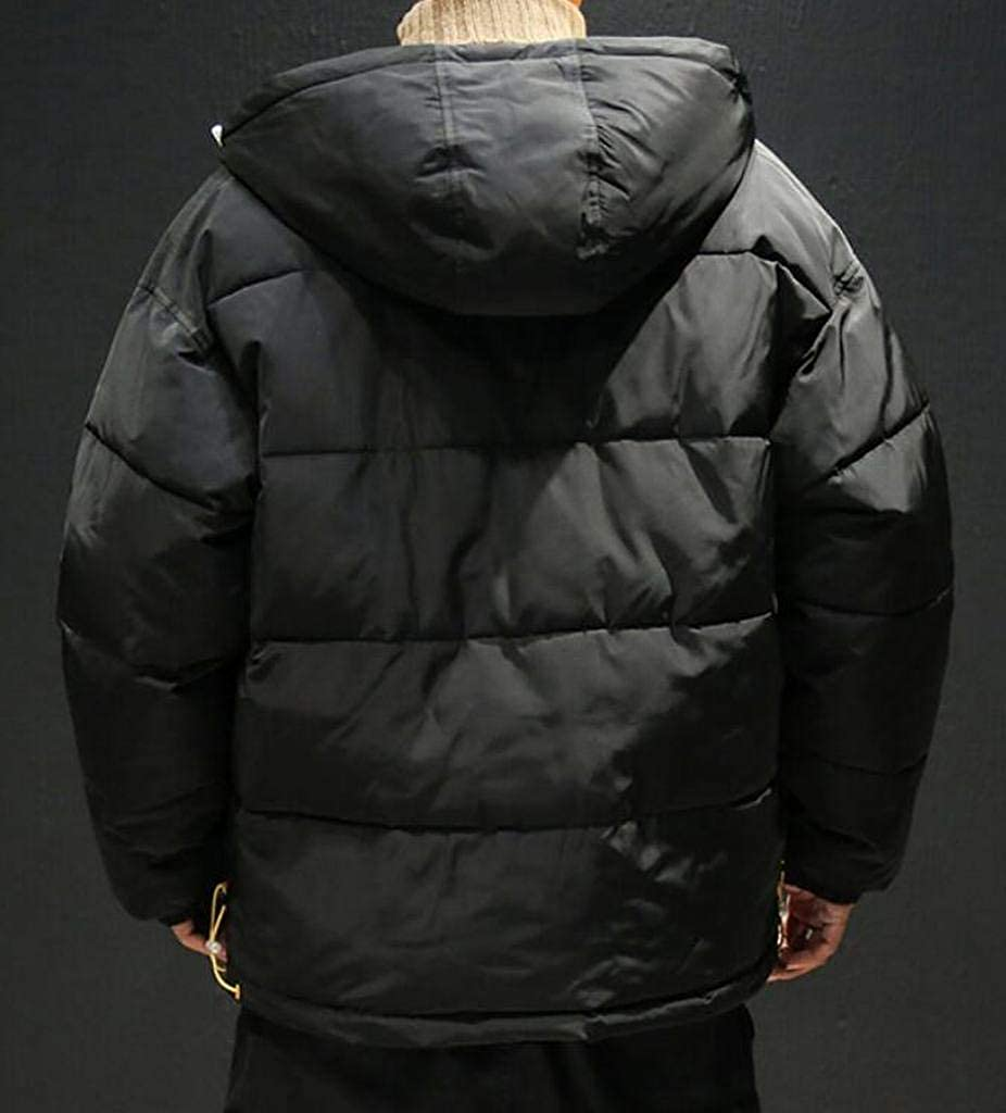 Fubotevic Mens Winter Full-Zip Thicker Loose Plus Size Hooded Down Quilted Coat Jacket Outerwear
